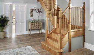 Лестница из лиственницы ЛЛ1