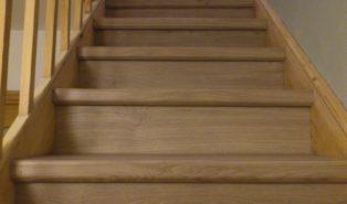 Отделка лестницы ламинатом ОЛЛ1