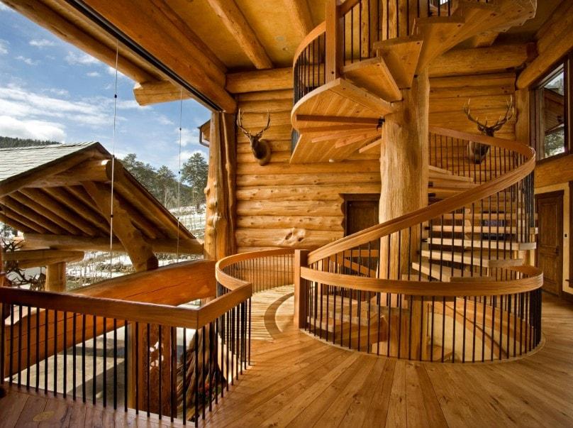 Винтовая лестница, массив ЛВ11