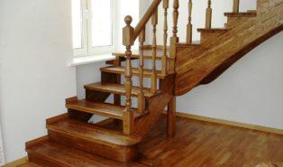 Лестница, массив бука ЛБ11