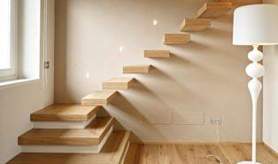 Оригинальная лестница из лиственницы ЛЛ14