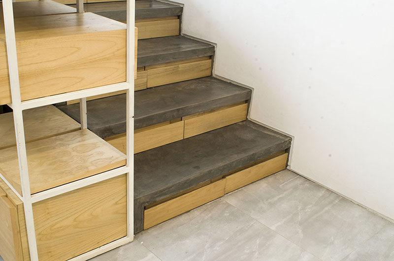 Отделка лестницы деревом ОЛД14