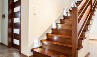Лестница прямая, массив дерева ЛП15