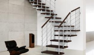 Лестница буквой Г, металлическая ЛМГО15