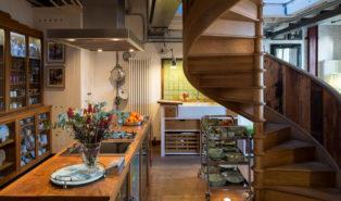 Винтовая лестница деревянная лестница ЛВ17