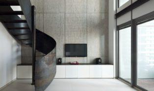 Винтовая металлическая лестница, ржавый стиль ЛМВ18