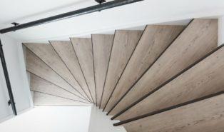Отделка лестницы деревом ОЛД19