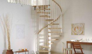 Лестница винтовая с деревянными ступенями ЛВ2
