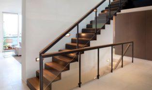 Отделка лестницы деревом ОЛД21