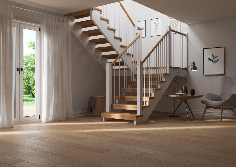 Лестница П-образная из дерева ЛПО21