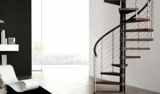 Винтовая металлическая лестница, коричневая ЛМВ21