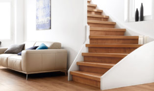 Отделка лестницы ламинатом ОЛЛ21