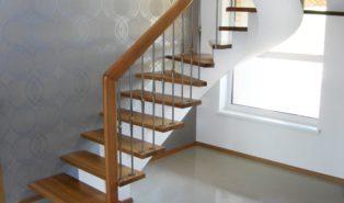 Отделка лестницы деревом ОЛД22