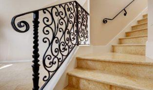 Отделка лестницы мрамором ОЛМ23