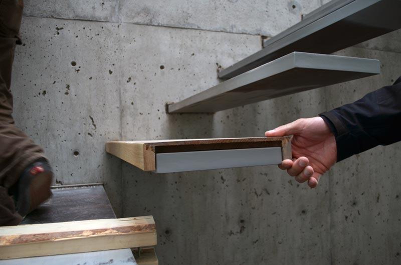 Отделка лестницы деревом ОЛД23