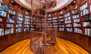 Лестница винтовая из дерева, библиотека ЛВ23