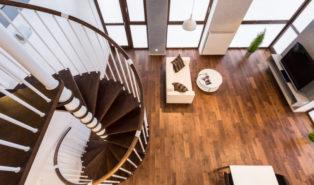 Лестница винтовая, ступени из дерева ЛВ24