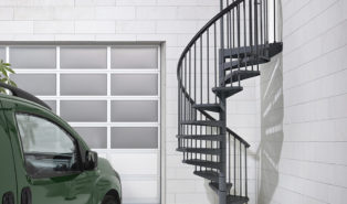 Винтовая металлическая лестница, уличная ЛМВ24