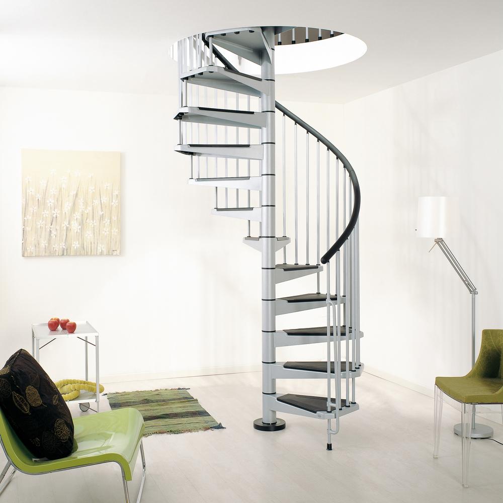 Винтовая металлическая лестница, уличная ЛМВ25