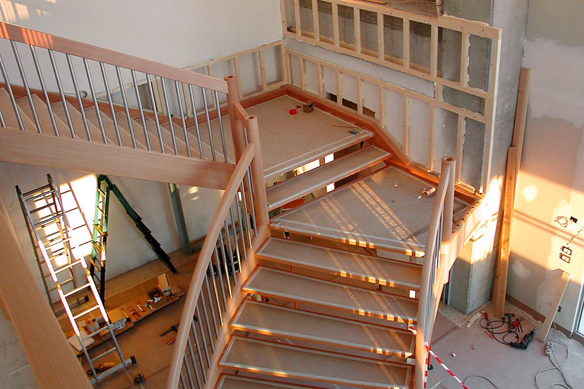 Лестница из бука ЛБ26