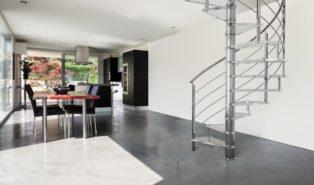 Винтовая металлическая лестница, стальная ЛМВ27