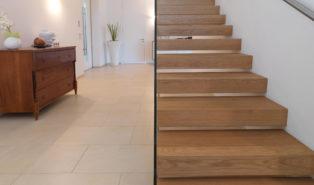Лестница из массива лиственницы ЛЛ29