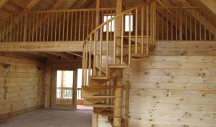 Винтовая лестница из дерева ЛВ31