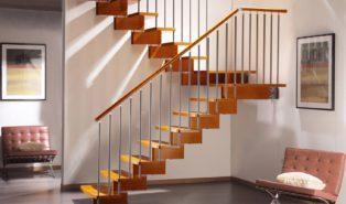 Лестница из массива бука ЛБ5