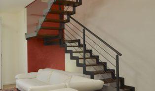П-образная лестница, металлокаркас ЛМПО5
