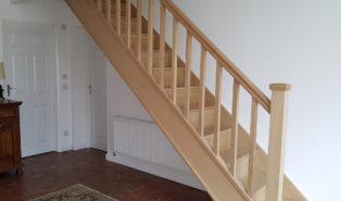 Лестница из массива, бук ЛБ6