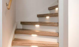Отделка лестницы деревом ОЛД7