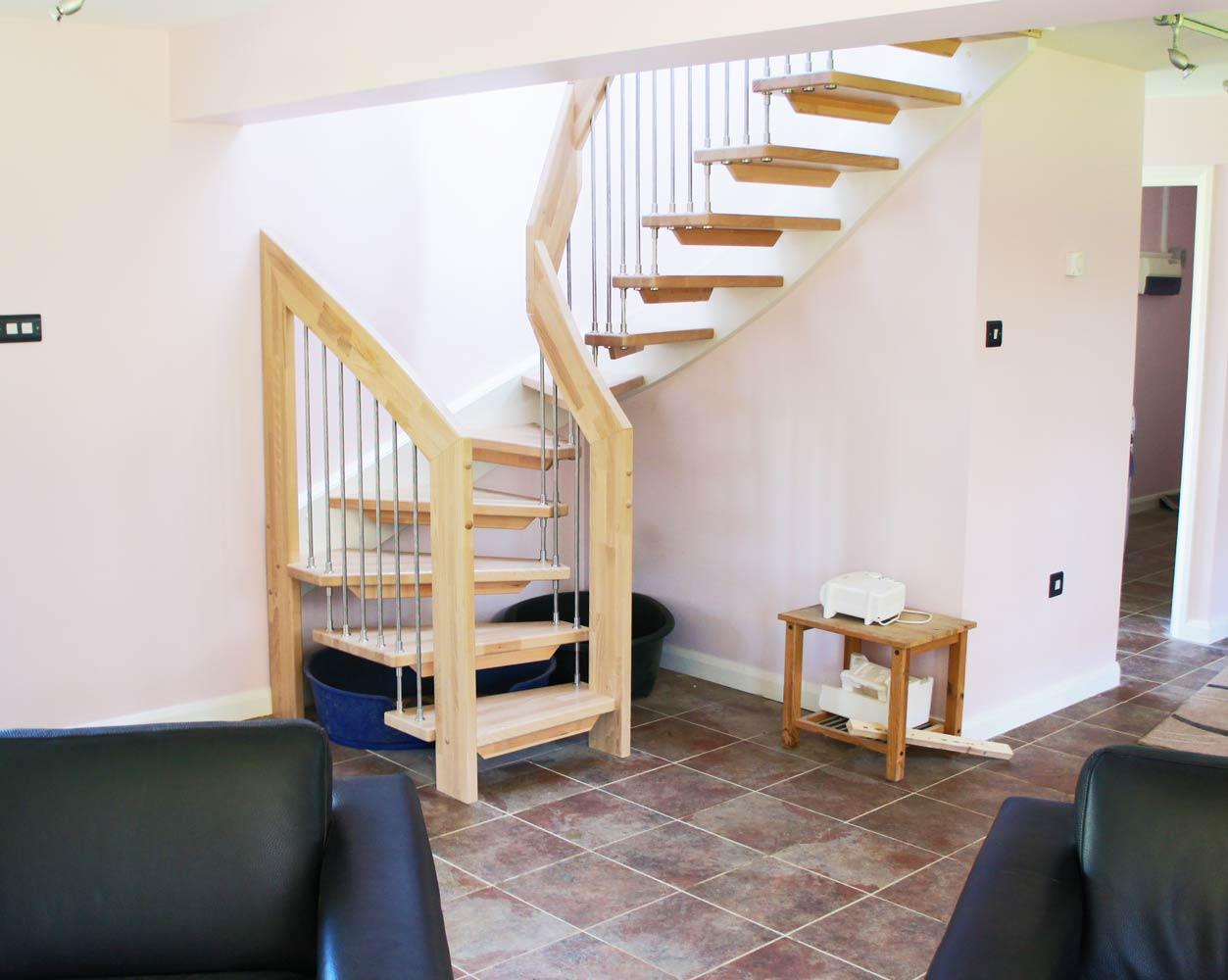 Лестница, бук ЛБ7