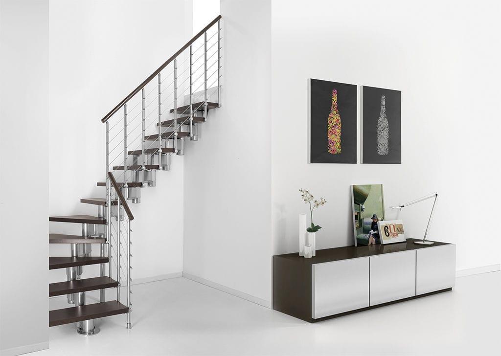 Г-образная лестница, металлокаркас ЛМГО9